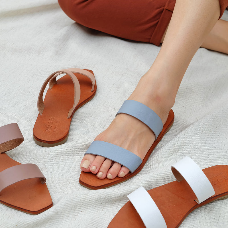 Coco Sandals in Blue Gray