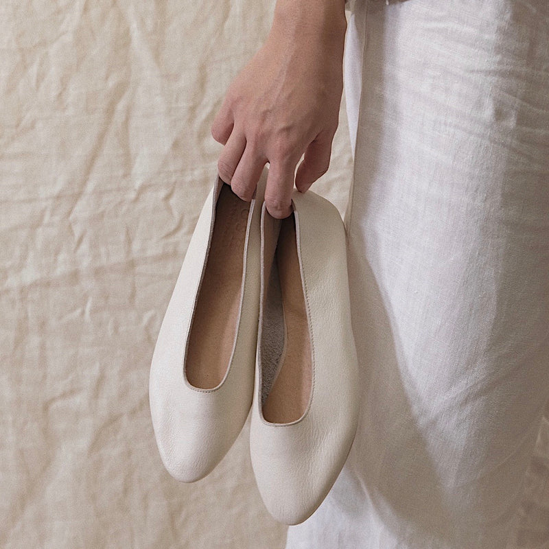 Dailey Shoe in Cream