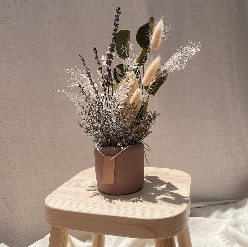 Lavender Mini Bloom in Blush Pot