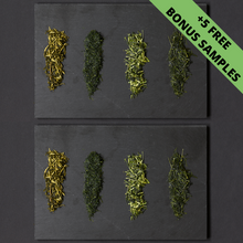 Load image into Gallery viewer, Monthly Tea Sampler with free Deep Steamed Sampler (8 Pack)