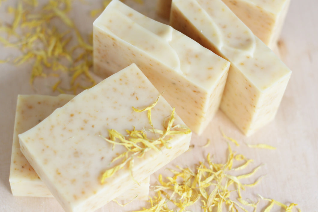 CALENDULA Soothing Natural Soap, with bright citrus essential oils