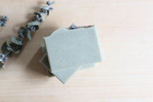 Load image into Gallery viewer, Nat Botanicals Eucalyptus Mint Natural Soap with Cambrian Blue Clay | Palm-Oil Free and Vegan Soap.