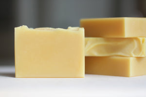 CARROT & SHEA Nourishing Natural Soap, with citrus & ylang ylang.