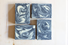 Load image into Gallery viewer, activated charcoal and tea tree natural soap