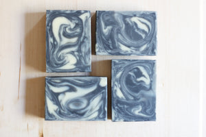 activated charcoal and tea tree natural soap