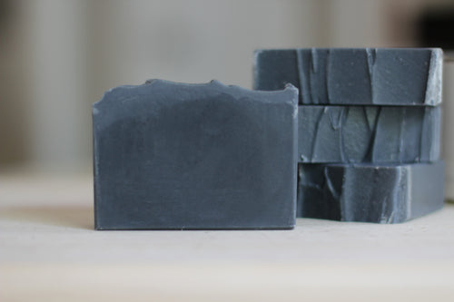 CHARCOAL & TEA TREE Clarifying Natural Soap, with tea tree, rosemary & cedarwood