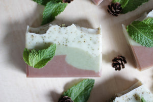 FOREST MINT Natural Soap with spearmint, juniper, and cedarwood