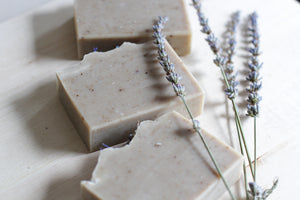 PURE LAVENDER Calming Natural Soap, with aloe vera & botanicals