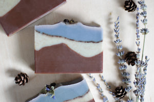 LAVENDER WOODS Natural Soap with lavender, fir needle, and juniper