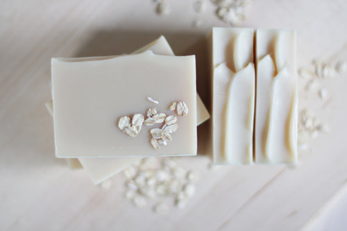 OAT MILK & OATMEAL Calming Natural Soap, Unscented.