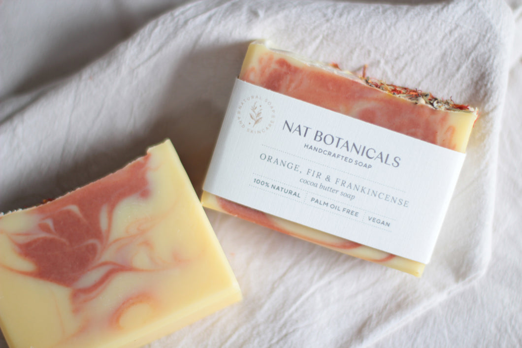 ORANGE FIR & FRANKINCENSE cocoa butter soap