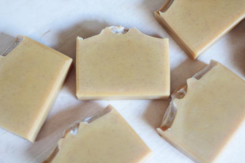 ORANGE PATCHOULI Exfoliating Turmeric Soap, with coconut milk