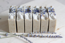 Load image into Gallery viewer, PURE LAVENDER Calming Natural Soap, with aloe vera & lavender botanicals (Back in Stock Oct. 29)