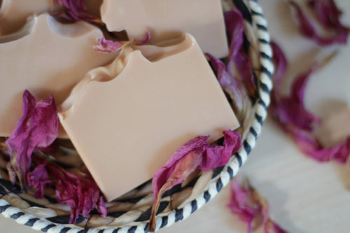 ROSE GERANIUM Rejuvenating Natural Soap, infused with rose clay