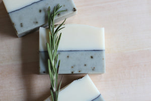 Nat Botanicals Rosemary Mint Natural Soap. Palm-free and vegan artisan soap.