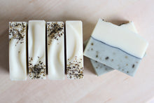 Load image into Gallery viewer, Nat Botanicals Rosemary Mint Natural Soap. Palm-free and vegan artisan soap.