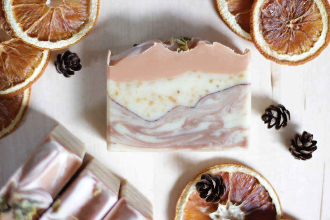 WILD CITRUS Natural Soap with tangerine, juniper, and cedarwood