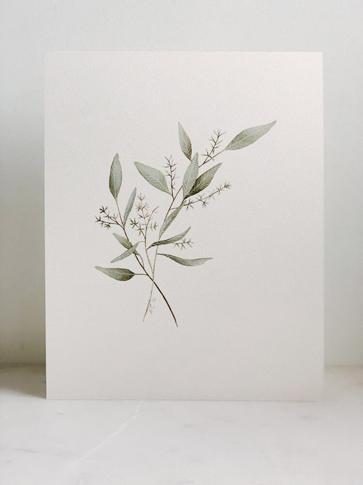 Watercolor Eucalyptus Print