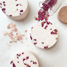 Load image into Gallery viewer, ROSE & BERGAMOT Natural Bath Bomb with Pink Himalayan Salt & Coconut Oil