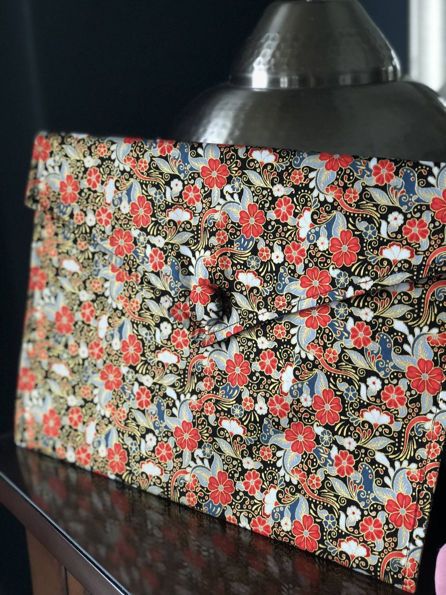 Oriental Envelope Bag In Black Florals