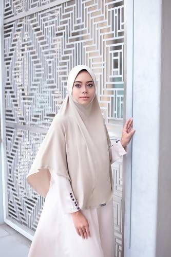 BASIC HIJAB BERDAGU - CREAM
