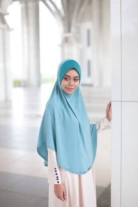 BASIC HIJAB BERDAGU - LIGHT BLUE
