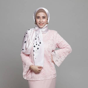 BLUSH SATIN SHAWL - LILAC