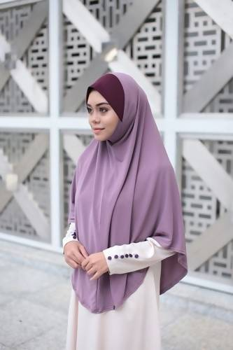 BASIC HIJAB BERDAGU -DUSTY PURPLE
