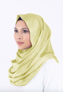 Satin Silk Snood in Soft Gold