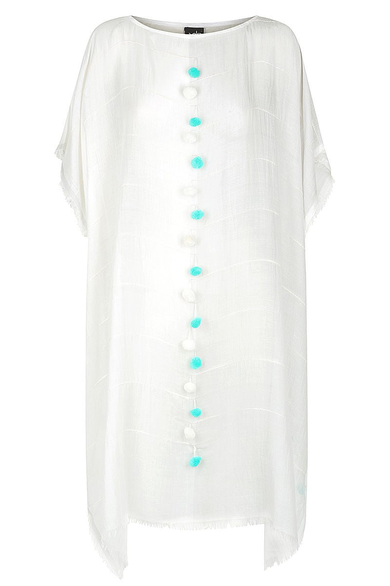 Beach Kaftan with Pom Pom