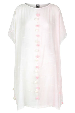 Kaftan with Pom Pom Trim