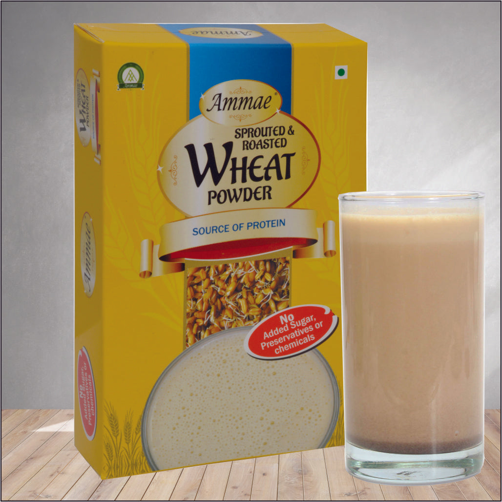 Ammae Sprouted & Roasted Wheat Powder, 125 gms (Instant porridge mix)