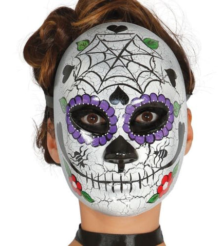 Adult Ladies Day of the Dead Mask Sugar Skull