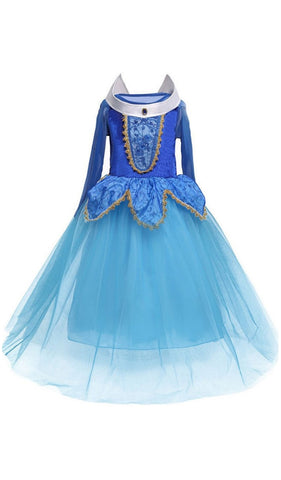 Girl's Blue Sleeping Beauty Costume