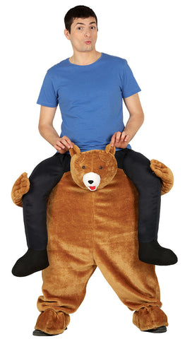 Brown bear piggyback costume