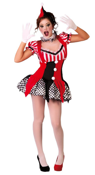 Circus clown harlequin costume
