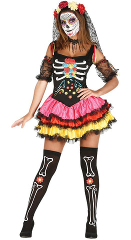 Adult Women's Day of the Dead Dress
