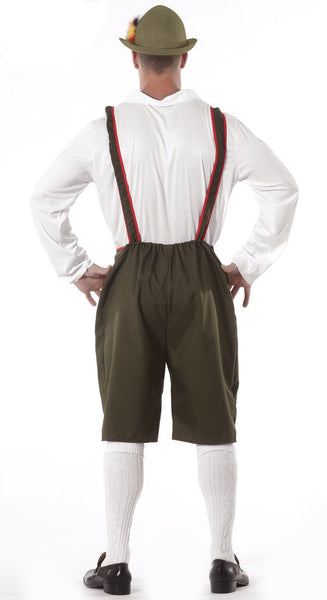 Back of German beer man costume