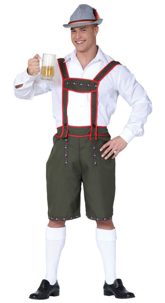 Front of German beer man costume