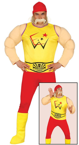 Hulk Hogan wrestler costume