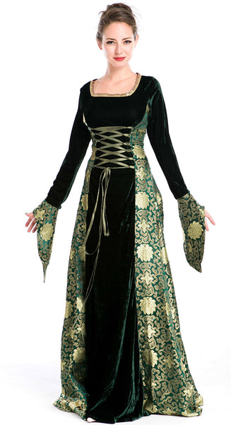 Front of luxury medieval gown