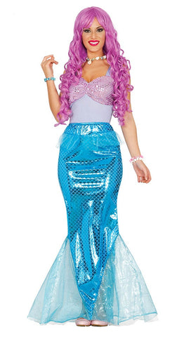 Ladies mermaid fancy dress costume