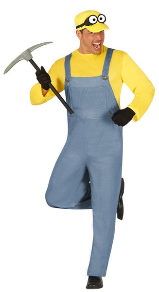 Yellow men's minion costume