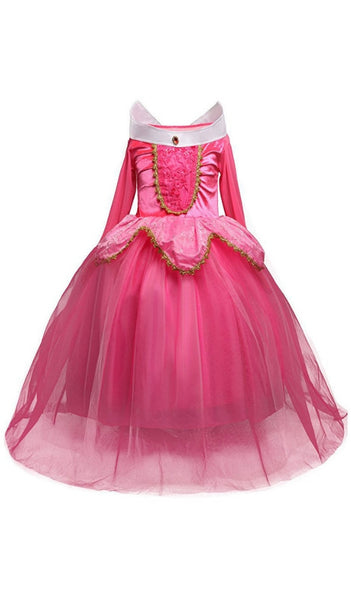 Girls Pink Sleeping Beauty Costume