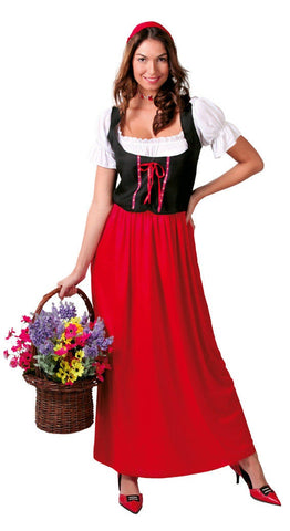Red ladies Oktoberfest costume