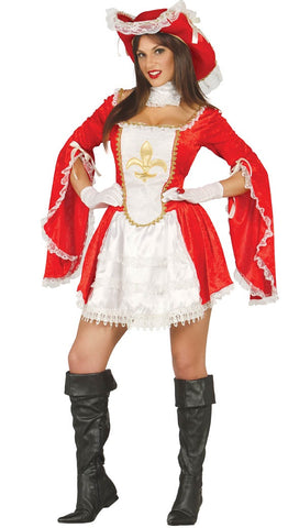 Ladies red musketeer costume