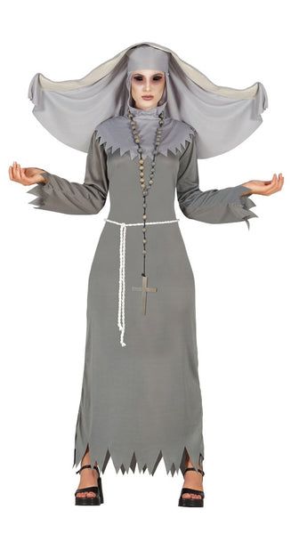 Spooky ghost nun costume