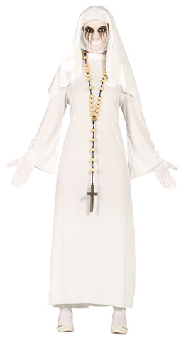 White ghost nun costume