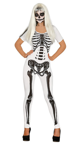 White skeleton jumpsuit