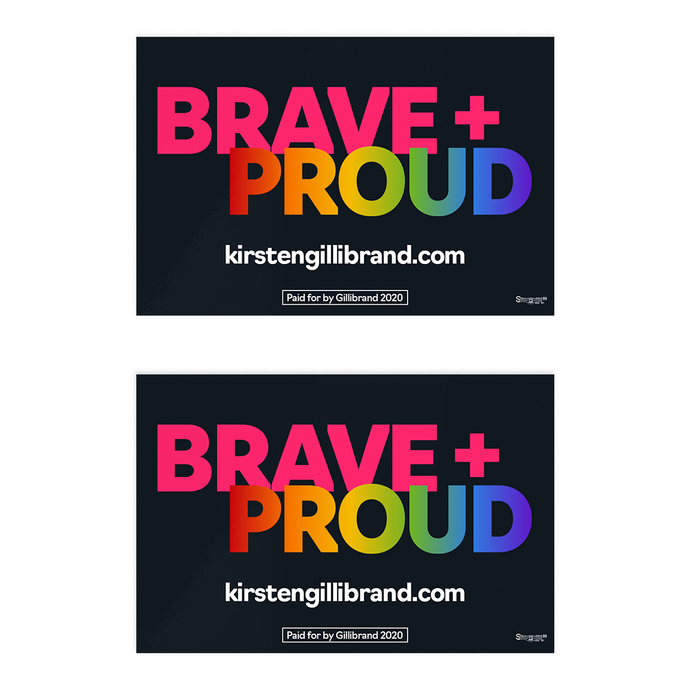Brave + Proud: LGBTQ Pride Sticker Pack